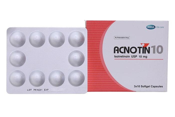 Thuốc Acnotin 10mg là thuốc gì