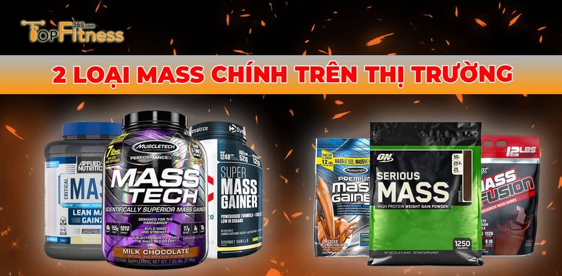 Các loại mass tăng cân trên thị trường